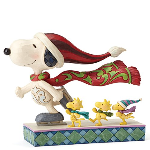 Enesco Peanuts by Jim Shore Skate Mates - Snoopy Woodstock, Stein, Multi, 6 x 17 x 13 cm