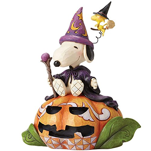 PEANUTS Jim Shore Halloween Zauberer Snoopy und Hexe Woodstock Figur mit Box