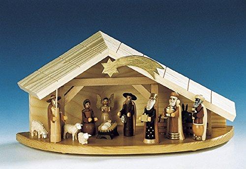 Krippenfiguren natur – Krippe - Weihnachtsfiguren - Holzfiguren – Höhe 8 cm – ohne Krippe –...
