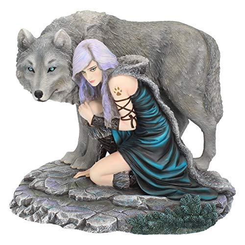 Nemesis Now Protector (Limited Edition) Anne Stokes Figur aus Kunstharz, 25 cm, Grau,...