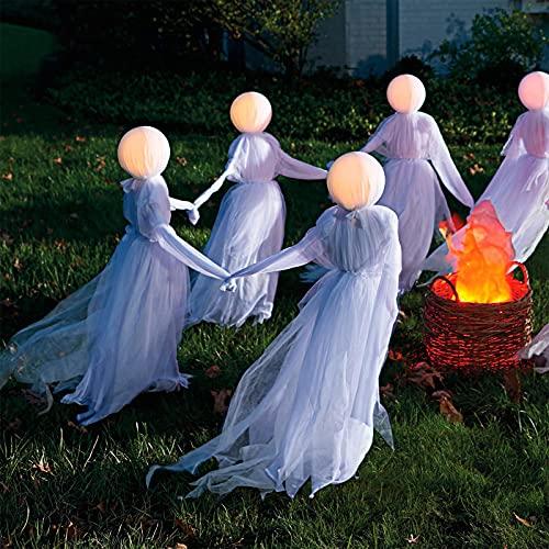 Halloween Deko Gespenst Geist FüR Karneval Horror Dekoration Party Mottoparty Skelett Weiß Grusel...