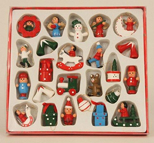 Geschenkestadl 24 Weihnachtsanhänger Weihnachtsmann Schneemann Engel Schaukelpferd Baumschmuck...