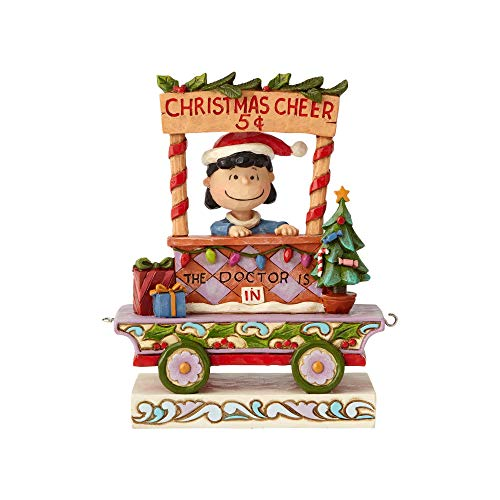 Enesco Peanuts by Jim Shore Lucy Weihnachtszug Auto-Figur, 13,8 cm, Mehrfarbig