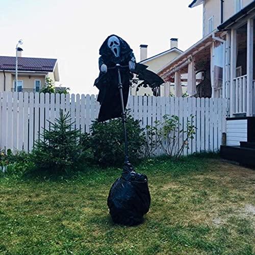 Ghostface Scarecrow Halloween Ghostface Vogelscheuche Dekoration Unique Scream Folge der Brise...