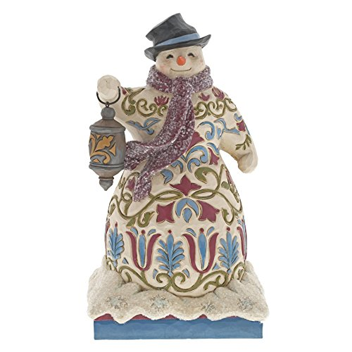 Heartwood Creek Snowman With Lantern Figurine