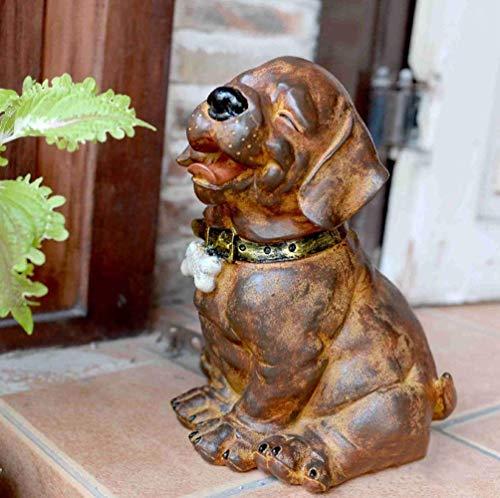 YXYOL Retro Netter Hund Statue, Garten Hund Skulptur Pet Modell Individualität Dekorative, Hunde...