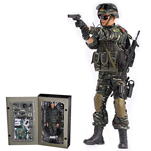 HYZM Soldat Action Figuren 1/6, 30CM Actionfigur Modell Beweglich Bewaffneter Polizeisoldat Figuren...