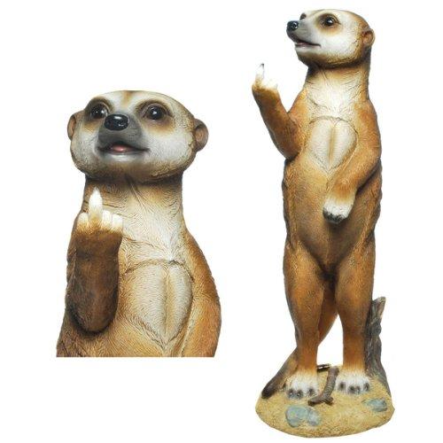 Erdmännchen (E01) Figur (Mittelfinger) Erdmännchen Figur Gartenfigur-verschiedene Modelle in...