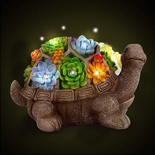 Herefun Gartendeko Schildkröte, Gartenfiguren Solar Leuchte, Solarbetriebenen Lampen Dekoration,...