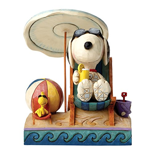 Peanuts by Jim Shore Beach Buddies (Snoopy & Woodstock)