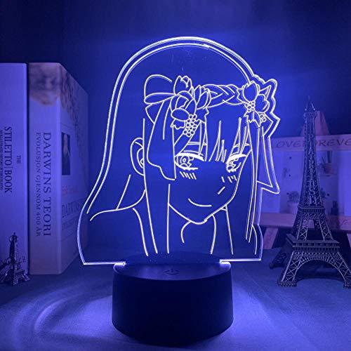 Anime Zero Two Figur 3d Lampe Nachtlicht Kinder Kind Mädchen Schlafzimmer Dekor Licht Manga...
