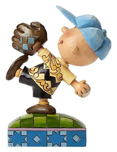 Jim Shore für Enesco Peanuts Baseball Charlie braun Figur, 15,2cm