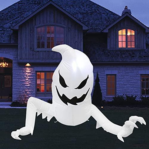 Lubudup Gespenst Aufblasbar Deko, Aufblasbarer Halloween Geist mit Lichter künstlicher Geist auf...
