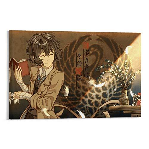 Poster mit Bungo Stray Dogs 67 Manga-Anime-Charakteren auf Leinwand, Wanddekoration, 60 x 90 cm