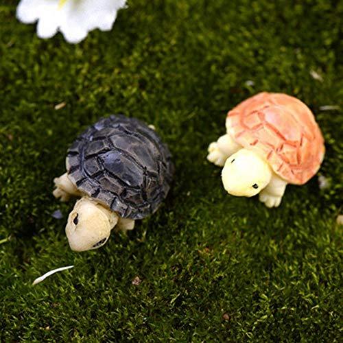 FUSSUF 2ST Schildkröten Modell for Puppenhaus Fairy Garden Miniaturen Terrarium Desktop-Sukkulente...