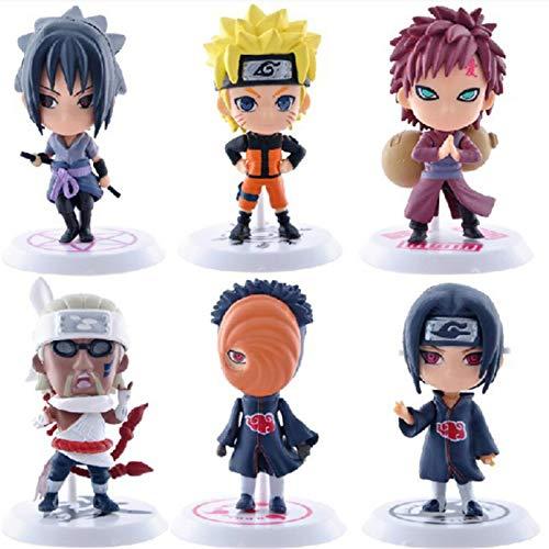 courti 6 Stück/Set Naruto Actionfiguren PVC Modell Spielzeug Anime Naruto Figur Actionfiguren Für...