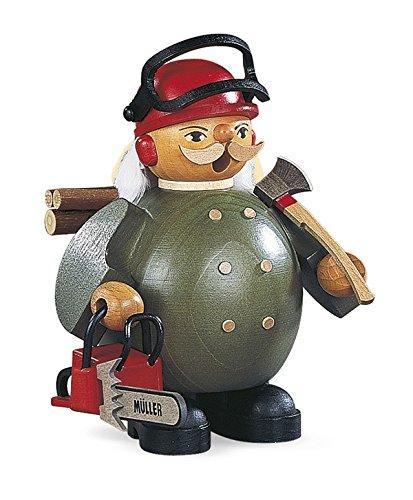Räucherfigur Räuchermann klein Waldarbeiter mit Motorsäge (BxH):12x14cm NEU Räuchermann Schnee...