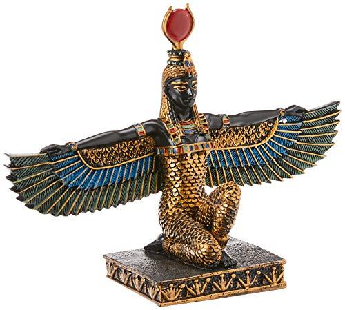 Design Toscano Isis, Göttin der Schönheit Ägyptische Dekostatue, Polyresin, vollfarbe, 23 cm