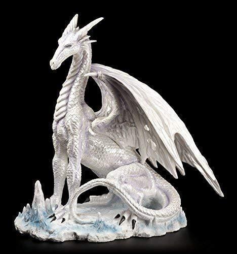 Drachen Figur - Der große Weiße - Drachenfigur Fantasy