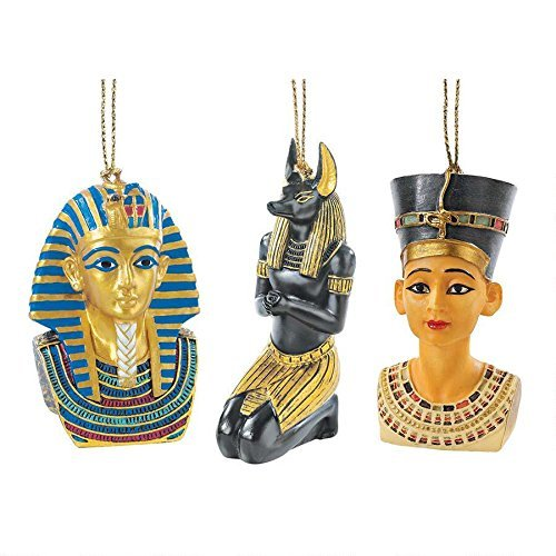 Design Toscano Icons of Ancient Egypt Holiday Ornament (Set of 3) by Design Toscano