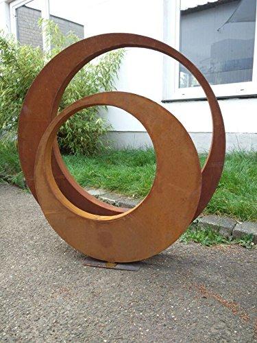 Zen Man 2st. Edelrost Gartenskulptur Rost Garten Figure aus Metall Gartenstecker Rost Gartendeko 80...