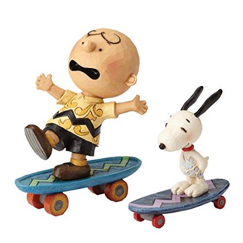 Enesco Skateboarding Buddies (Charlie Brown & Snoopy) (Set 2)