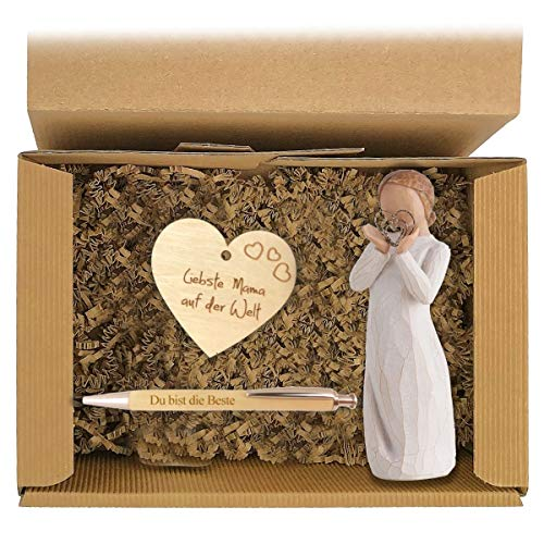 Geschenkbox 'Mama' Muttertag Box Präsent Korb Geschenk Engel Herz