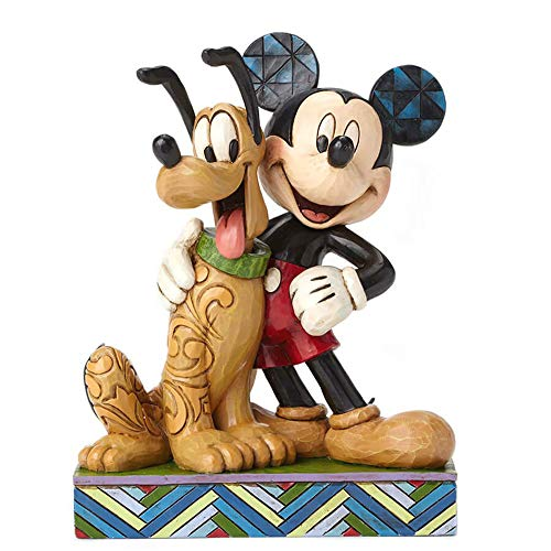 Jim Shore für Enesco Disney Traditions Mickey & Pluto Figur, 15,2 cm
