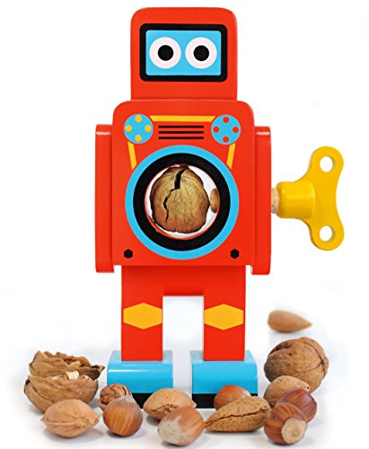 "SUCK UK Nussknacker 'Roboter"" in rot 