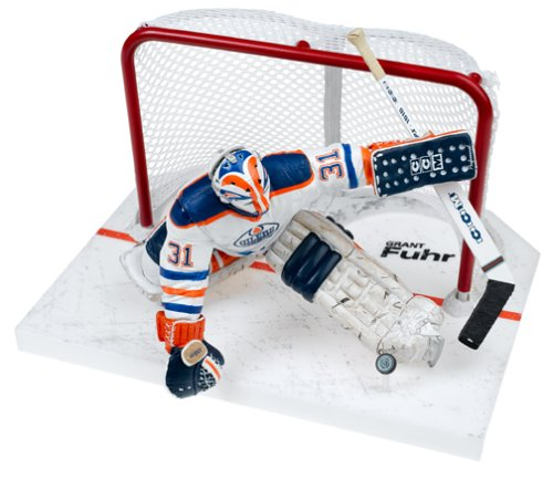 Mcfarlane Toys NHL Legends Series 2 Figure: Grant Fuhr with White Edmonton Oilers Jersey (Goalie) by...