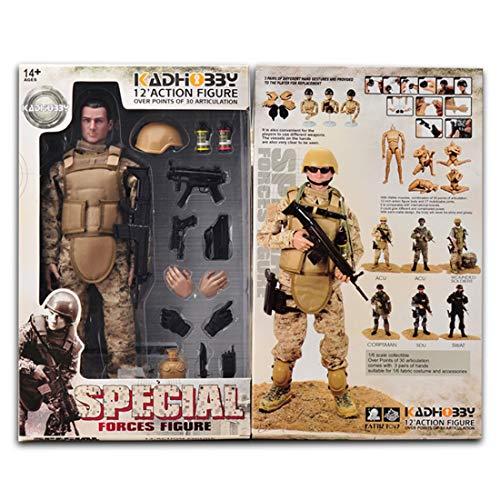 GODNECE Soldat Figuren Beweglich, 1/6 Figur Actionfiguren 30cm Soldat Action Figur Militär Mit...
