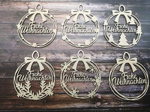 KE-Partyzubehör Weihnachtsbaum-anhänger Frohe Weihnachten Christbaum-anhänger Geschenk-anhänger...