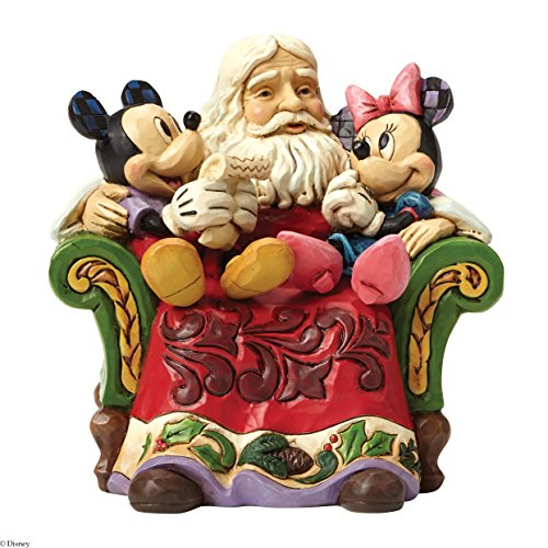 Disney Tradition Christmas Wishes (Santa With Mickey & Minnie Mouse Figur)