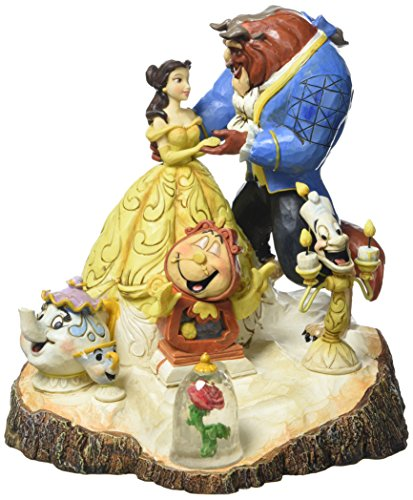 Enesco 4031487 Figur Disney Tradition Tale As Old As Time, Carved By Heart Beauty & The Beast Figur,...