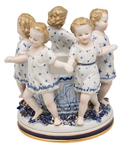 Porzellan Schale Kerzenleuchter Tanz Figurengruppe antik Stil Figur Porcelain
