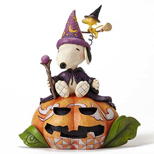 PEANUTS Jim Shore Halloween-Zauberer Snoopy und Hexe Woodstock, mit Box