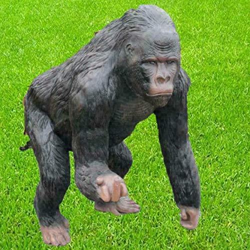 Skulpturenparadies24 Gorilla Deko Dekofigur Tierfigur Gartendekoration Garten Groß XXL aus...