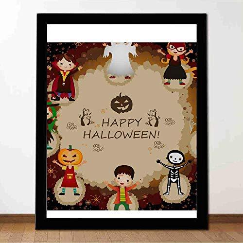 Handbedrucktes dekoratives Wandbild Halloween-Figuren Home-Office-Wanddekoration