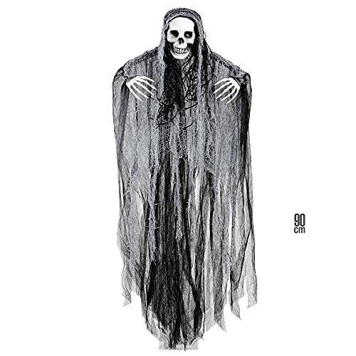Widmann 01383 - Sensenmann, Größe 90 cm, Hängedekoration, Horror, Halloween, Mottoparty