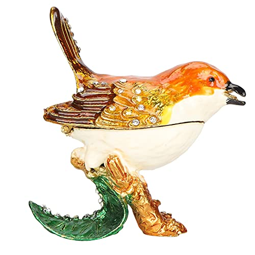 Vogel-Tier-Garten-Statuen-Figur, Vogel-Box aufklappbarer Schmuck-Schmuckkästchen oder Frauen oder...