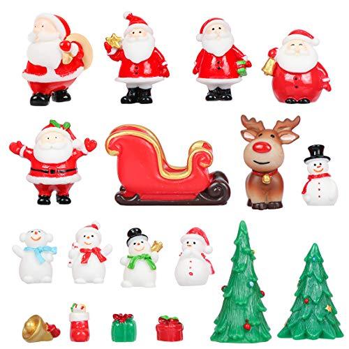 Weihnachtsdeko Figuren, 18 Stück Miniatur Weihnachten Figuren, Weihnachtliche Minifiguren,...