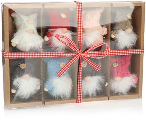 com-four® 8X Premium Weihnachtsmann-Anhänger für den Weihnachtsbaum, Verschiedene...