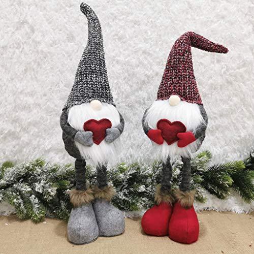 LLKK Weihnachtsdekoration,Weihnachtsschmuck,Weihnachtsbaum-Schmuck,Christbaum-Anhänger (2 Stücke)