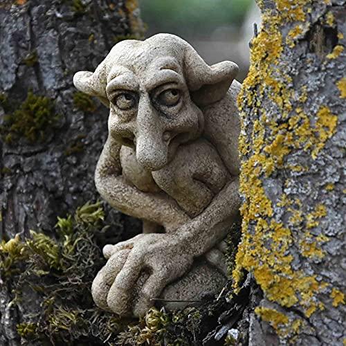Gartendeko Figuren für Außen Groß, Gargoyle Statue, Gartendeko Garten Ornament Sitzen Magische...