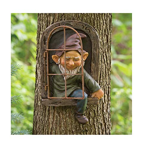 Detrade Gartenzwerge wetterfest Garten GNOME Statue, GNOME Baum Fensterharz Garten Figuren, Baum...