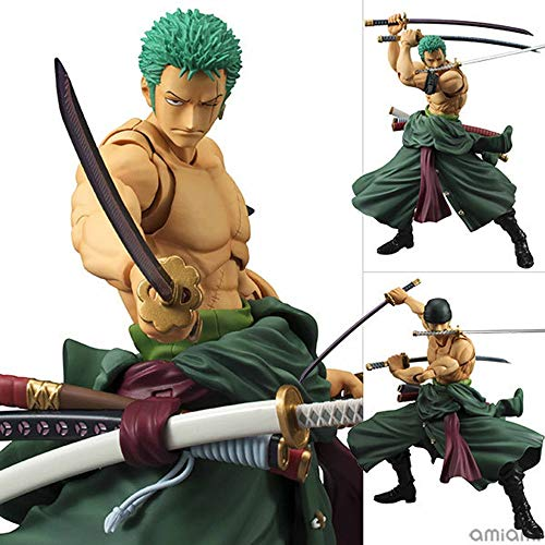 QTRT ONE Piece Roronoa Zoro 3 Messer Fluss Movable PVC Anime Cartoon Game Character Modell Statue...