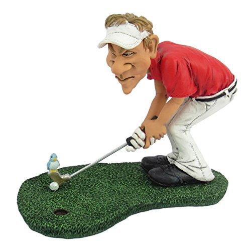 Funny Sports - Golfer b. Birdie Vogel sitzt auf Golfball