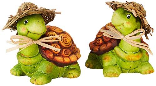 HEITMANN DECO Keramik-Schildkröten - Dekofiguren - Deko für Haus, Garten und Teich - bunt bemalt,...