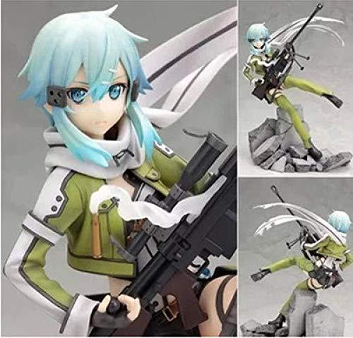 HHLLZP Anime Skulptur Schwert Kunst Online Kirito Kirito Kazuto Asada Shino Asuna Bewegliche Modell...