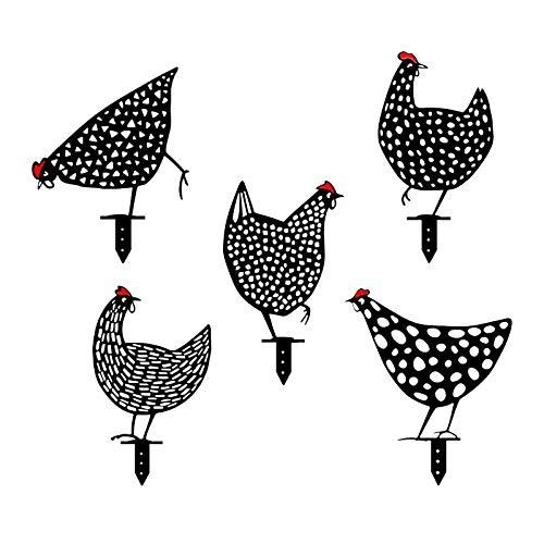 Chicken Yard Art Gartenschilder - Gartenfigur Metall Huhn Deko Handarbeit Gartendeko...